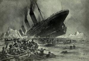 「沈没するタイタニック」Willy Stöwer 画
