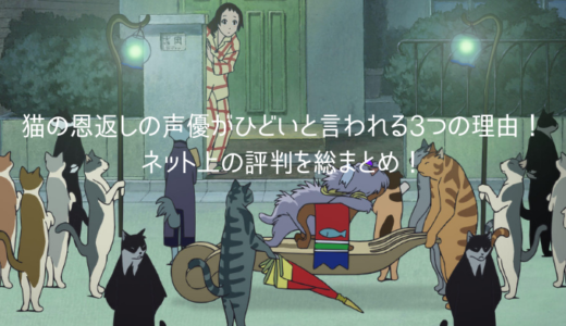 猫の恩返しの声優がひどいと言われる3つの理由!ネット上の評判を総まとめ!