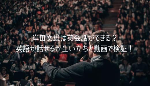 岸田文雄は英会話ができる?英語が話せるか生い立ちと動画で検証!