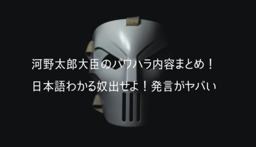 河野太郎大臣のパワハラ内容まとめ!日本語わかる奴出せよ!発言がヤバい